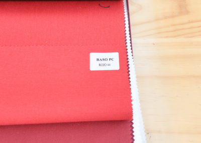 Textil para hosteleria Raso PC Rojo