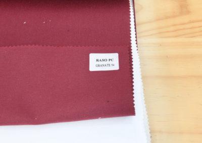 Textil para hosteleria Raso PC Granate